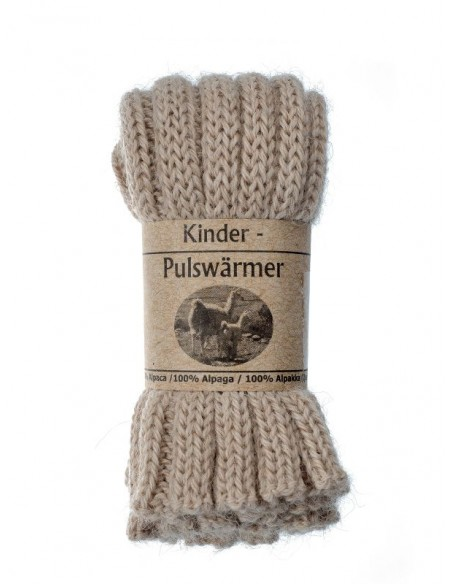Babybeenwarmer of kinderpolswarmer in ecru