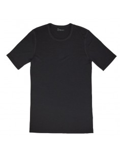 Heren T-shirt in zwart (Merinowol)