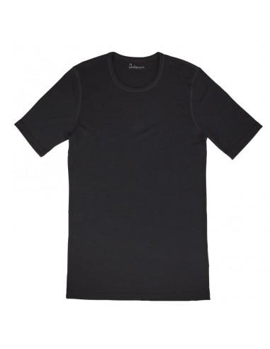 Heren T-shirt in zwart (Merinowol)