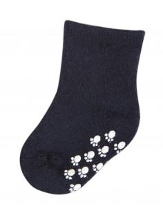 Sokken in wol in blauw met anti-slip