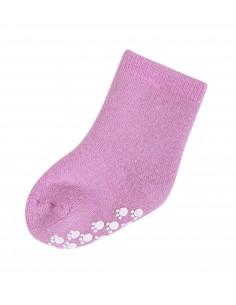 Sokken in wol in roze met anti-slip