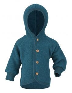 Babyjasje in petrol (biologische fleece wol)