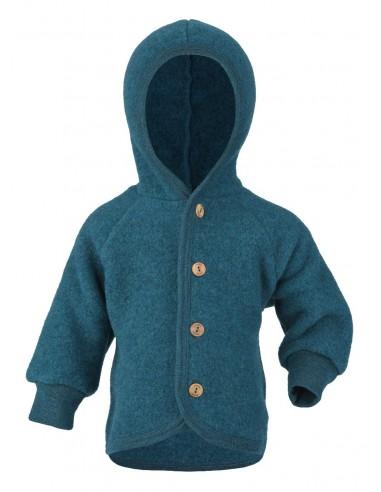 Fleece Jasje Baby.Babyjasje In Petrol Biologische Fleece Wol