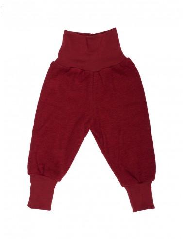 Babybroekje wol rood