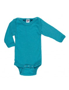 Romper in turquoise (wol-zijde)
