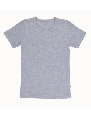 T-shirt in grijs (wol)