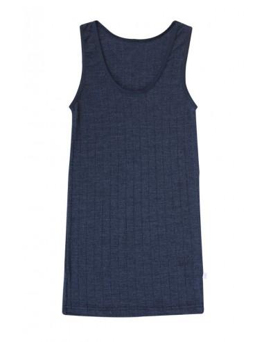 Hemd in blauw (wol-zijde)