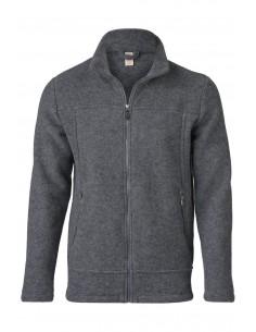 Fleece vest in lichtgrijs (wol-fleece)