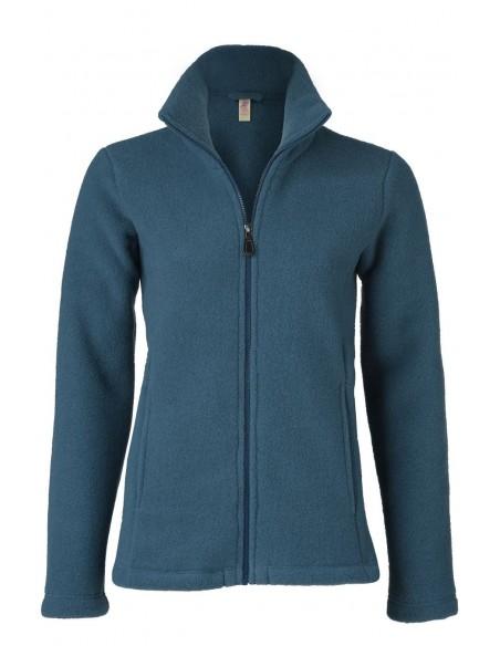 Vest in blauw (biologische fleece wol)