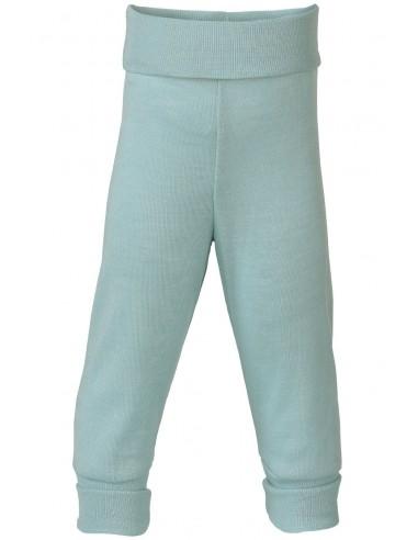 Babybroekje in gletscher-kleur wol-zijde