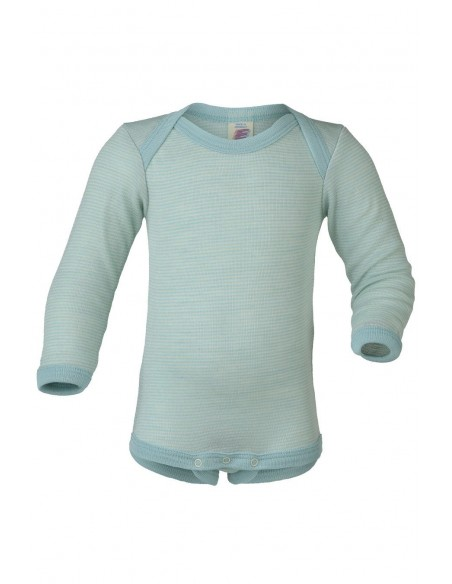 Romper in gletscher-kleur (wol-zijde)