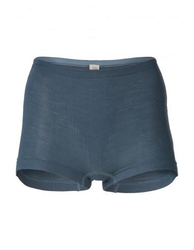 Boxershort in atlantic-blauw (wol-zijde)