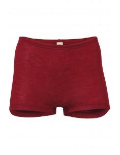 Boxershort in malve-rood (wol-zijde)