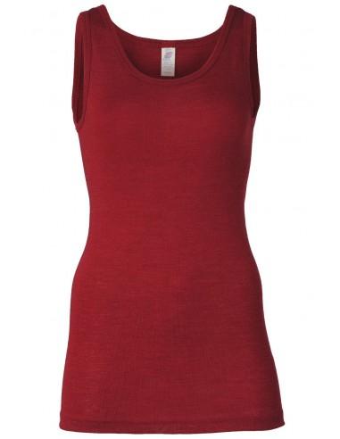 Hemdje in malve-rood (wol-zijde)