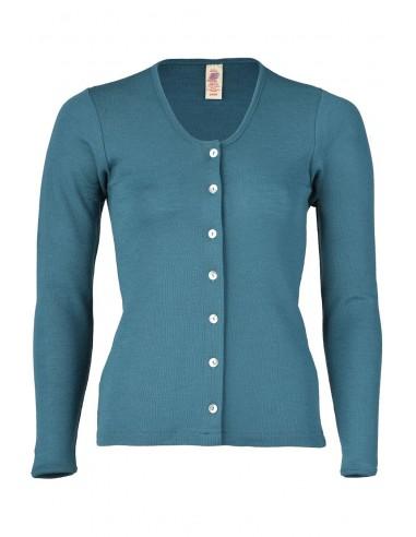 Damesvest turquoise (wol)