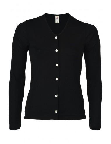 Vestje in zwart (wol-zijde)