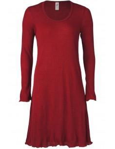 Nachtjapon in malve-rood (wol-zijde)