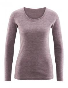 Shirt in merlotrood (wol-katoen)