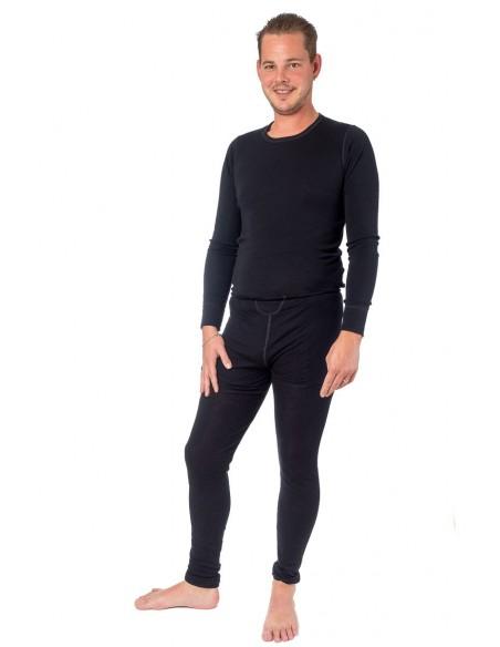 Herenlegging in zwart (wol)