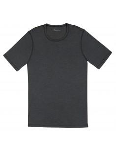 Heren T-shirt in antraciet (Merinowol-zijde)