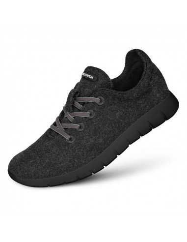 Merinowollen runners schoenen in antraciet voor dames
