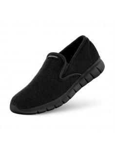 Merinowollen slip-on schoenen in zwart voor dames