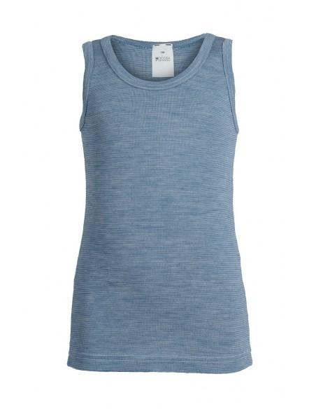 Hemd in jeansblauw (wol-zijde)