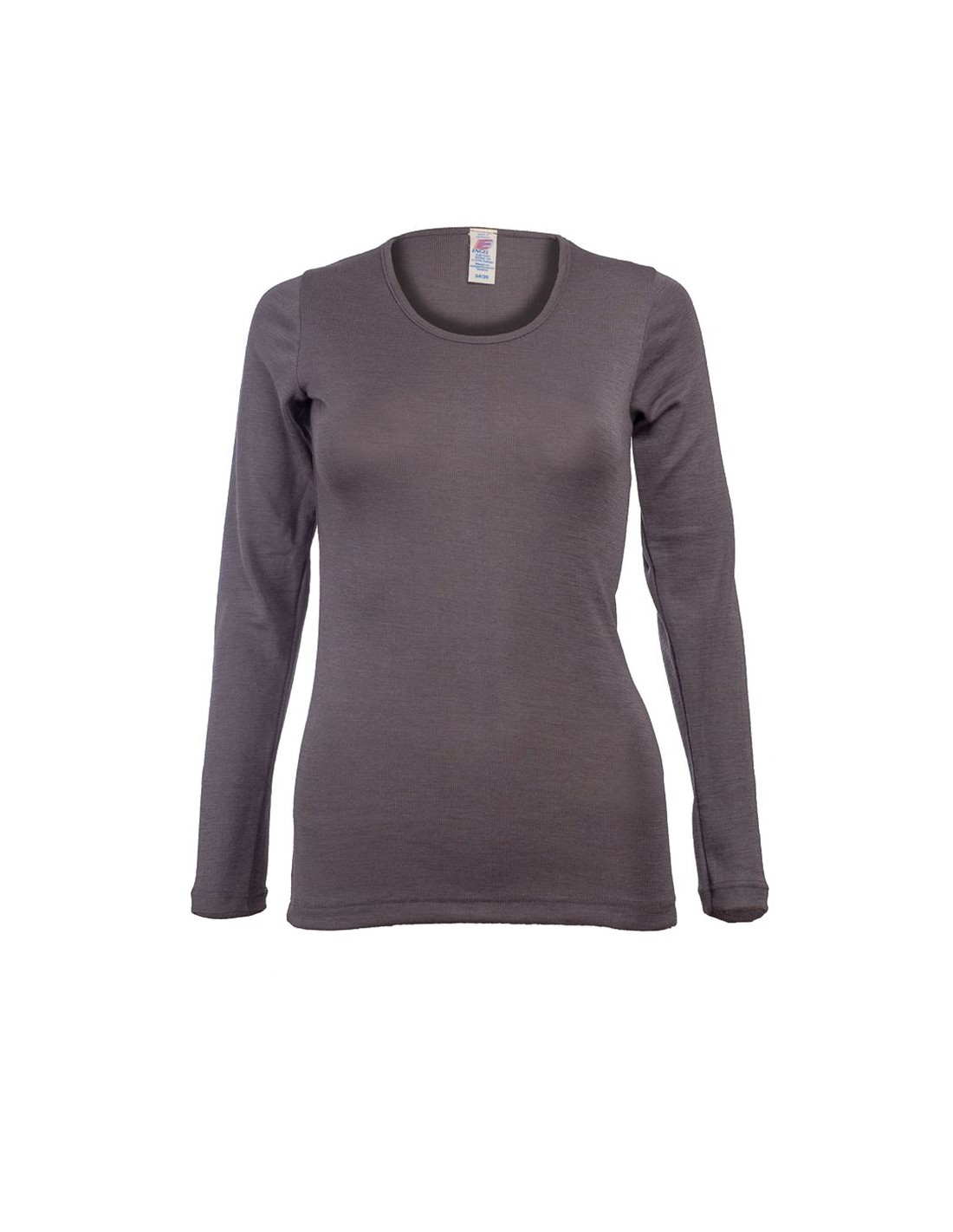1ab28c4e240 Longsleeve in taupe (wol-zijde)