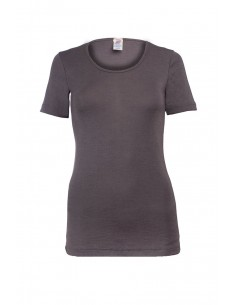 T-shirt in taupe (wol-zijde)