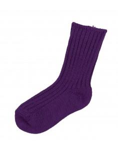 Sokken in wol in paars