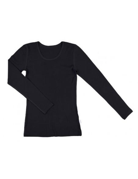 Longsleeve in zwart (wol)