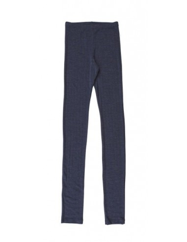 Legging in donkerblauw (wol-zijde)