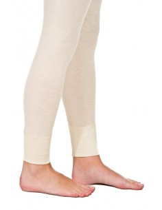 Legging in naturel (wol-zijde)