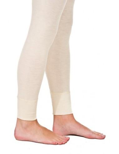 Legging in naturel (wol-zijde)