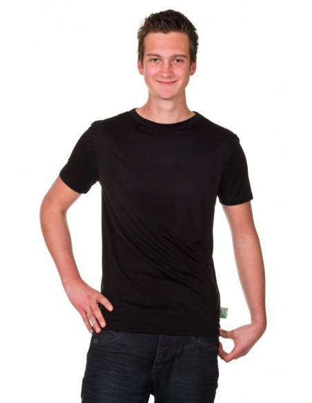 T-shirt in zwart (Coconelle zijde)