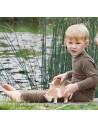Babylegging in walnoot (wol-zijde)