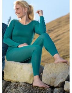Legging in turquoise (wol-zijde)