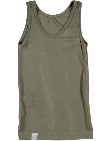 Hemd in olijfgroen (Coconelle zijde)