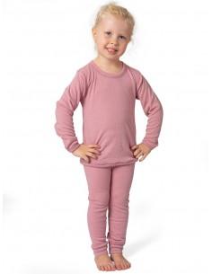 Roze merinowollen combi