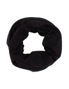 Rondgebreide sjaal in zwart...