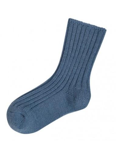 Sokken in wol in jeansblauw