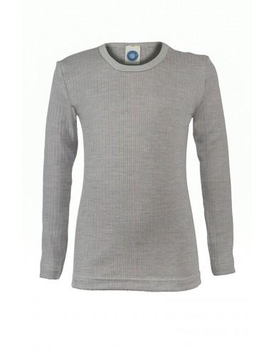 Longsleeve in grijs (wol/katoen/zijde)