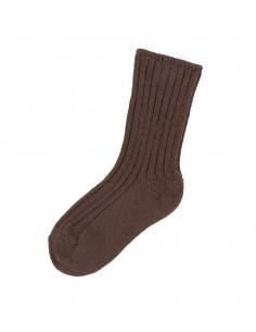 Sokken in wol in bruin