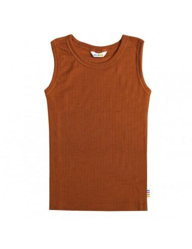 Hemd zonder mouwen in caramel  (wol)