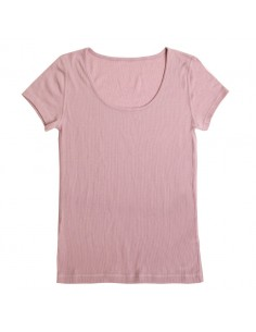 T-shirt in plumroze (wol)
