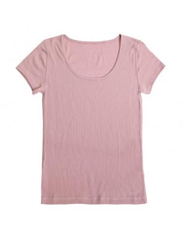 T-shirt in plumroze (wol)