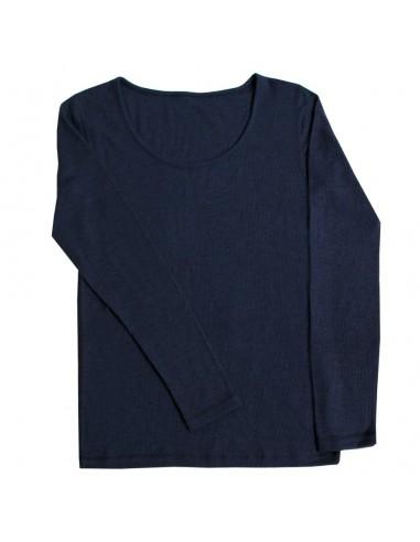 Longsleeve in marineblauw (wol)