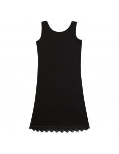 Onderjurk in zwart (wol-zijde)