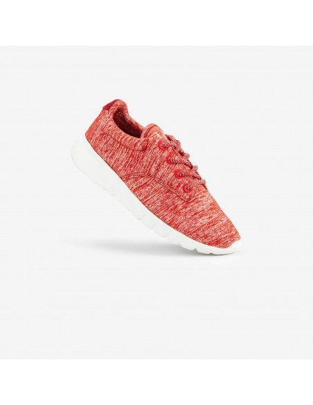 Rode sneaker van merinowol