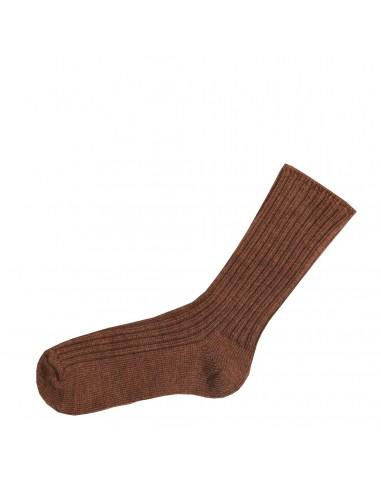 koperkleurige terra sokken merinowol